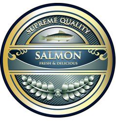 salmon gold icon vector image vector image