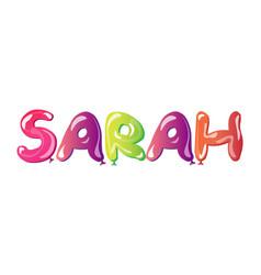 Sarah written with alphabet balloons vector