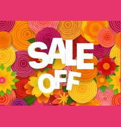 Season sale off concept spring floral seamless vector