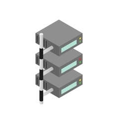 Servers icon isometric 3d style vector image