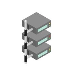 Servers icon isometric 3d style vector