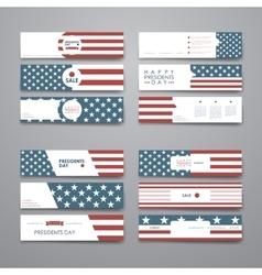 Set of modern design banner template in Presidents vector image