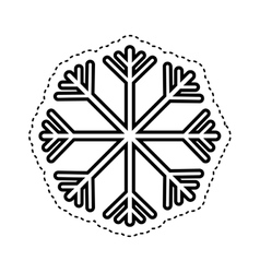 snowflake climate sign icon vector image
