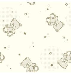 Teddy bears seamless background vector