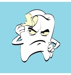 The aching tooth with caries a comic book vector image vector image