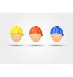 three electrical safety helmets vector image vector image