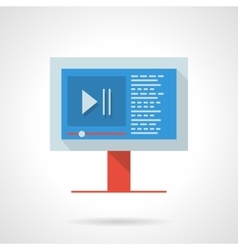 Video blog flat color design icon vector image vector image