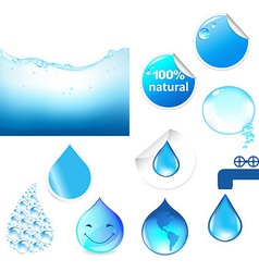Water Symbols Set vector image