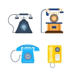 Old mobile phone retro vector