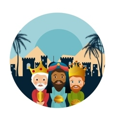 Three wise kings manger design design vector
