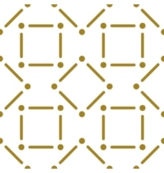 Golden line pattern on white background vector image