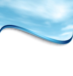Cloudy sky abstract waved background vector