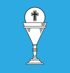 Cup chalice first communion icon graphic vector