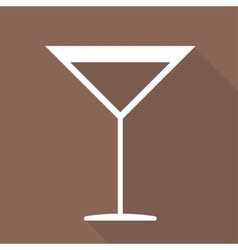 Drink glass web icon vector