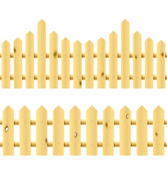 Wooden seamless fences vector