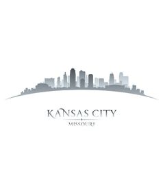 Kansas city missouri skyline silhouette vector