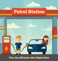 The petrol station vector