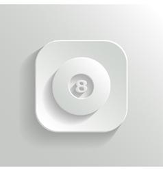 Billiard icon - white app button vector