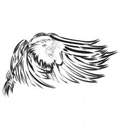 vector eagle vector image