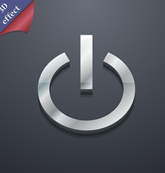 Power icon symbol 3d style trendy modern design vector