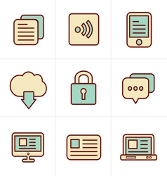 Icons style website icons set design vector