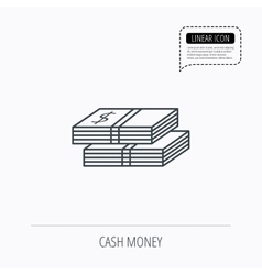 Cash icon dollar money sign vector