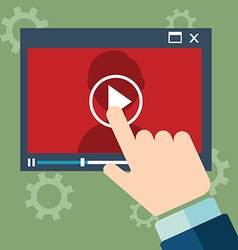 Webinar concept in flat style - video player - vector