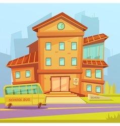 School cartoon background vector