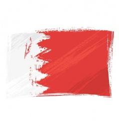 Grunge bahrain flag vector