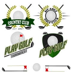 Professional logo of golf club labels and emblems vector