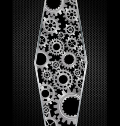 abstract gears concept on black background vector image