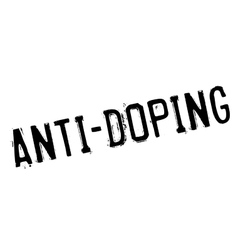 Anti-doping rubber stamp vector