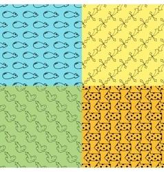Arrow seamless pattern vector