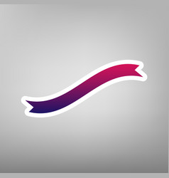 Banner ribbon sign purple gradient icon vector