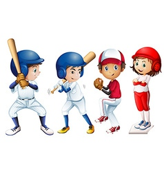 Baseball team vector image