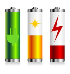 Batterie charge symbols vector image