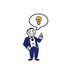 Business clipart get idea vector