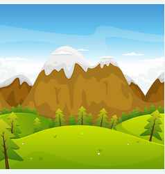 cartoon mountains landscape vector image