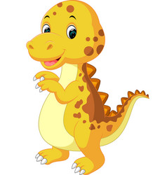 cute baby dinosaur cartoon vector image