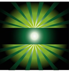 Dark Green sunny ray background with place vector image vector image