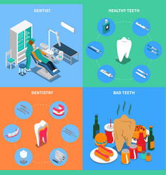 Dentistry 2x2 design concept vector