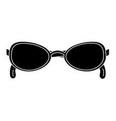 Elegant sunglasses isolated icon vector