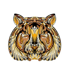 Ethnic tiger vector