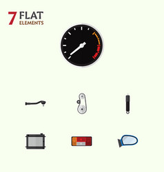 Flat component set of heater input technology vector