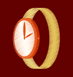 flat shading style icon wrist watch vector image vector image
