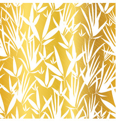 Gold and white bamboo leaves seamless vector