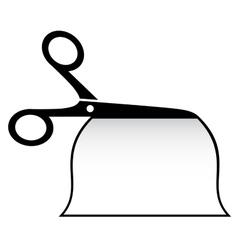 isolated scissors cut paper vector image