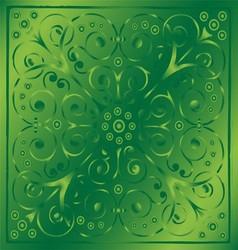 Luxury vintage floral green background vector