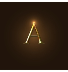 Modern of Gold Letter A vector image vector image