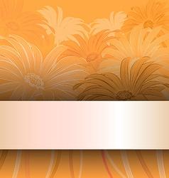 Orange Floral Card Invitation vector image vector image